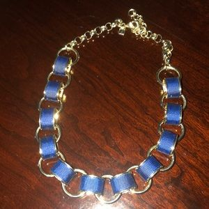 J. Crew necklace navy blue